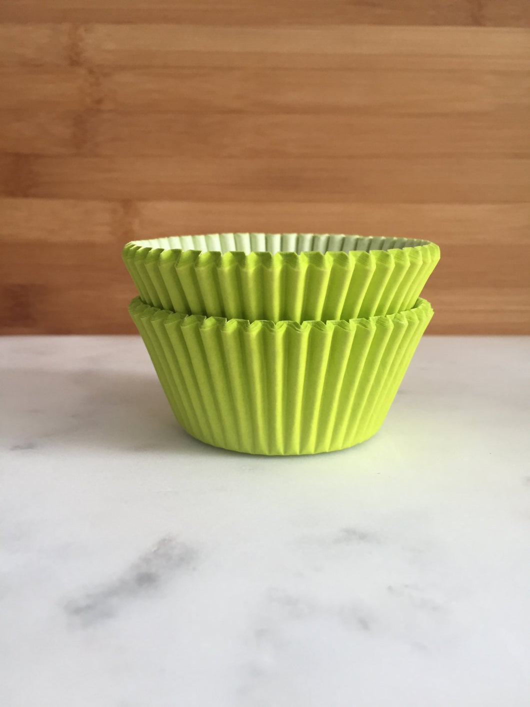 Neon Green Cupcake Liners, Standard Sized, Baking Cups (50)