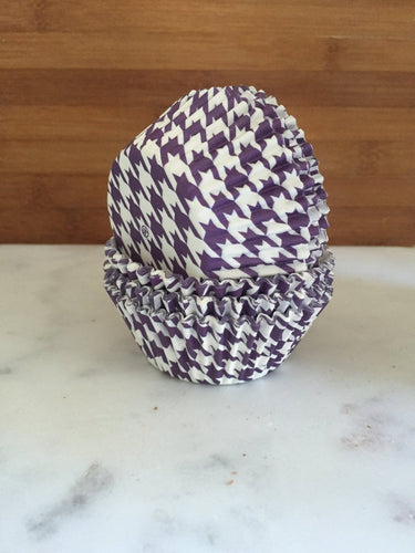 Houndstooth Purple BakeBright Cupcake Liners, Standard Sized, Baking Cups (50)