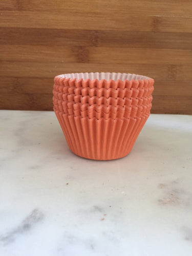 Solid Orange BakeBright Cupcake Liners, Taller Sized, Baking Cups (30)