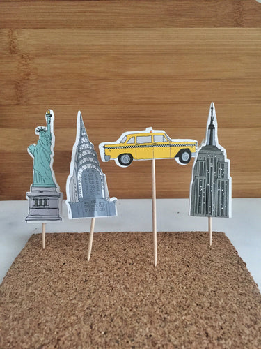 New York City, Cake, Cupcake Toppers (24)