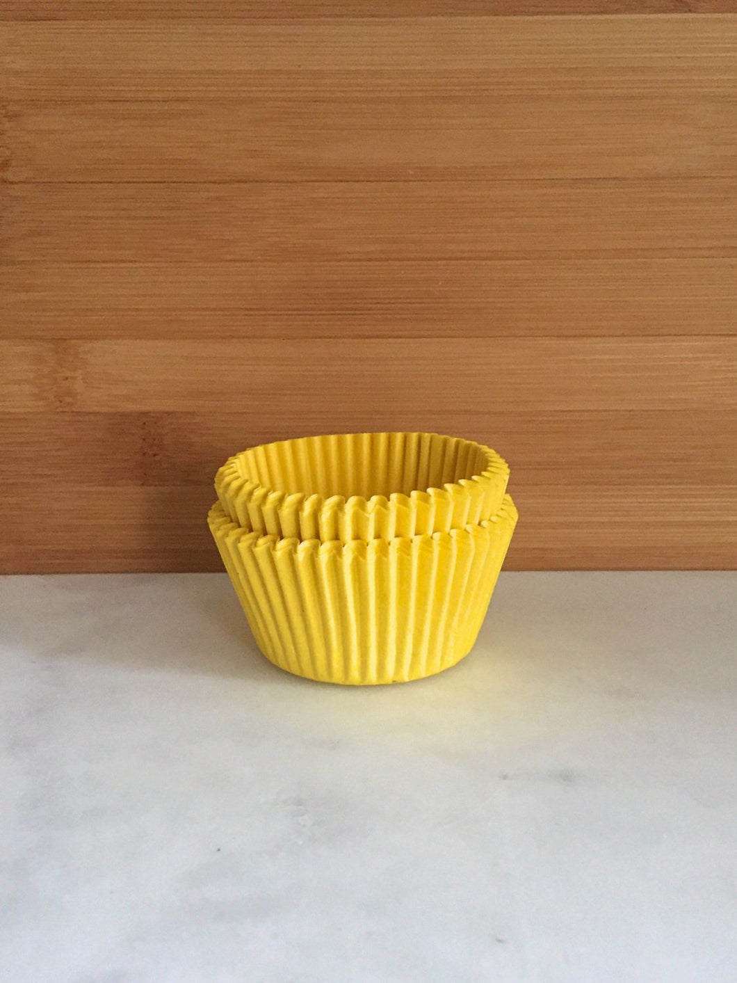 Solid Yellow Cupcake Liners, Standard Sized, Baking Cups (50)
