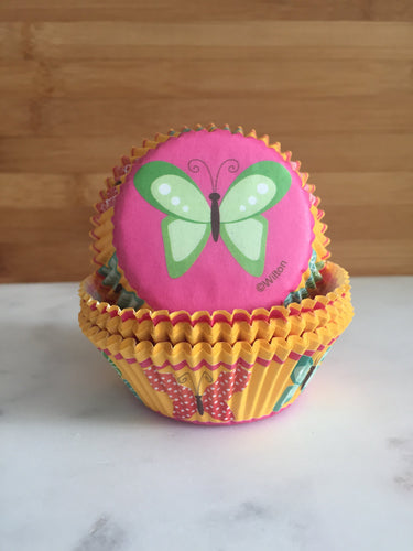 Summer Butterfly Cupcake Liners, Standard Sized, Baking Cups (50)