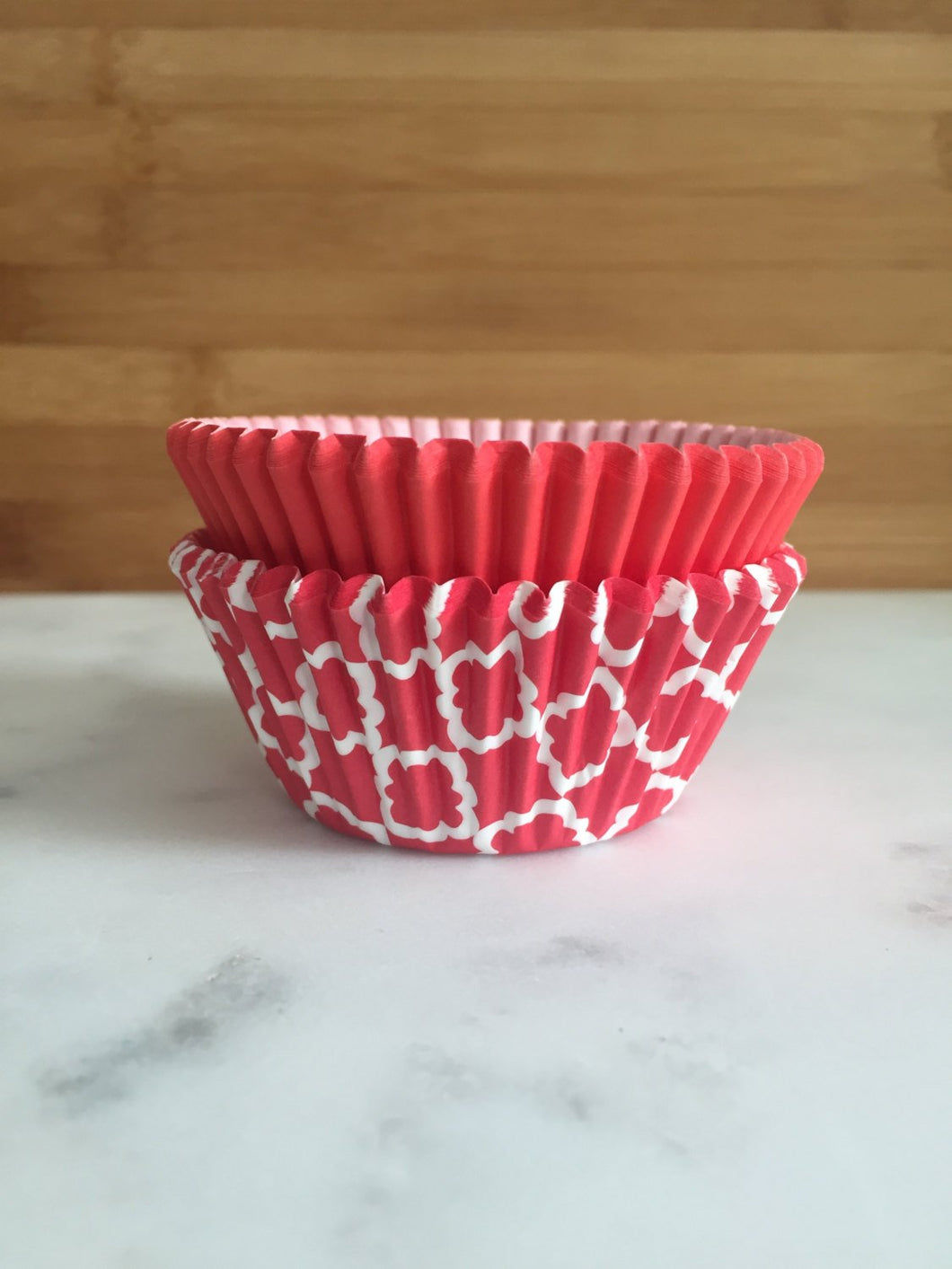 Red Moroccan Design Cupcake Liners, Standard Sized, Baking Cups (50)