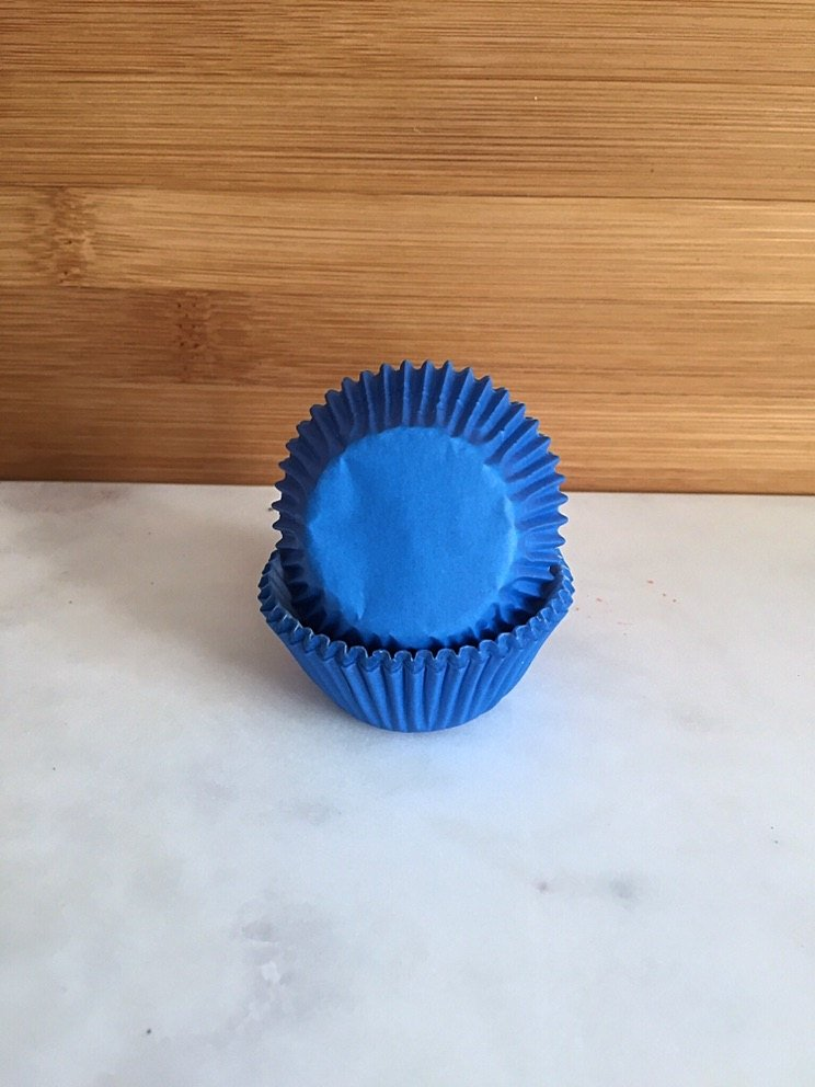 MINI Blue Color Cupcake Liners, MINI Sized, Baking Cups (50)