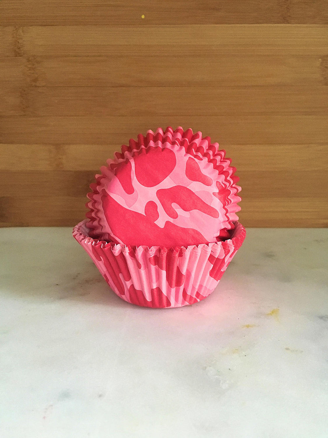 Pink Camo Cupcake Liners, Standard Sized, Baking Cups (50)