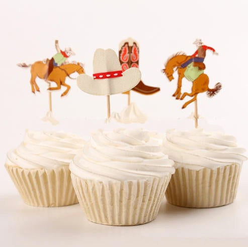 Rodeo and Cowboys, Cake, Cupcake Toppers (24)