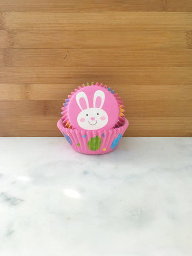Pink Bunny Cupcake Liners, Standard Sized, Baking Cups (50)