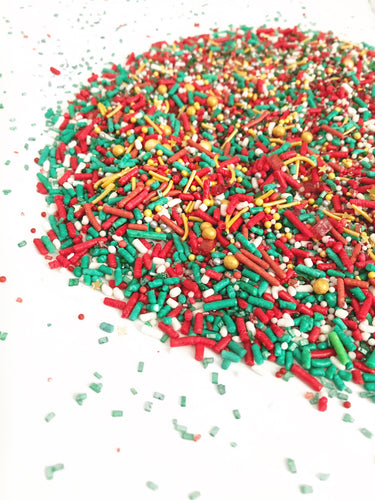 Holiday Red White Gold & Green Cupcake and Cookie Sprinkles, Baking sprinkles, Cupcakes, Cookies - YYC PICKUP