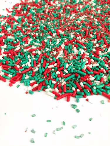 Holiday Red White & Green Cupcake and Cookie Sprinkles, Baking sprinkles, Cupcakes, Cookies - YYC PICKUP