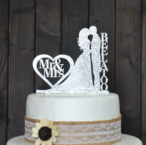 names of wedding cakes custom wedding cake topper personalized with your last 17701