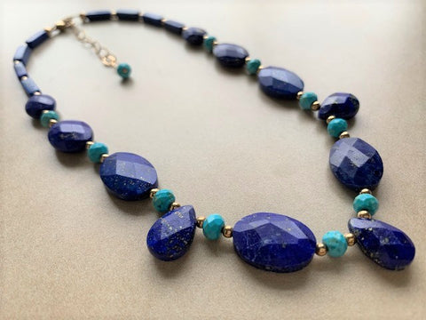 Lapis Lazuli, turquoise and gold