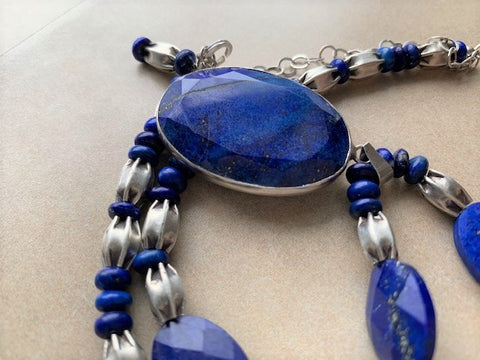 Lapis Lazuli and sterling silver