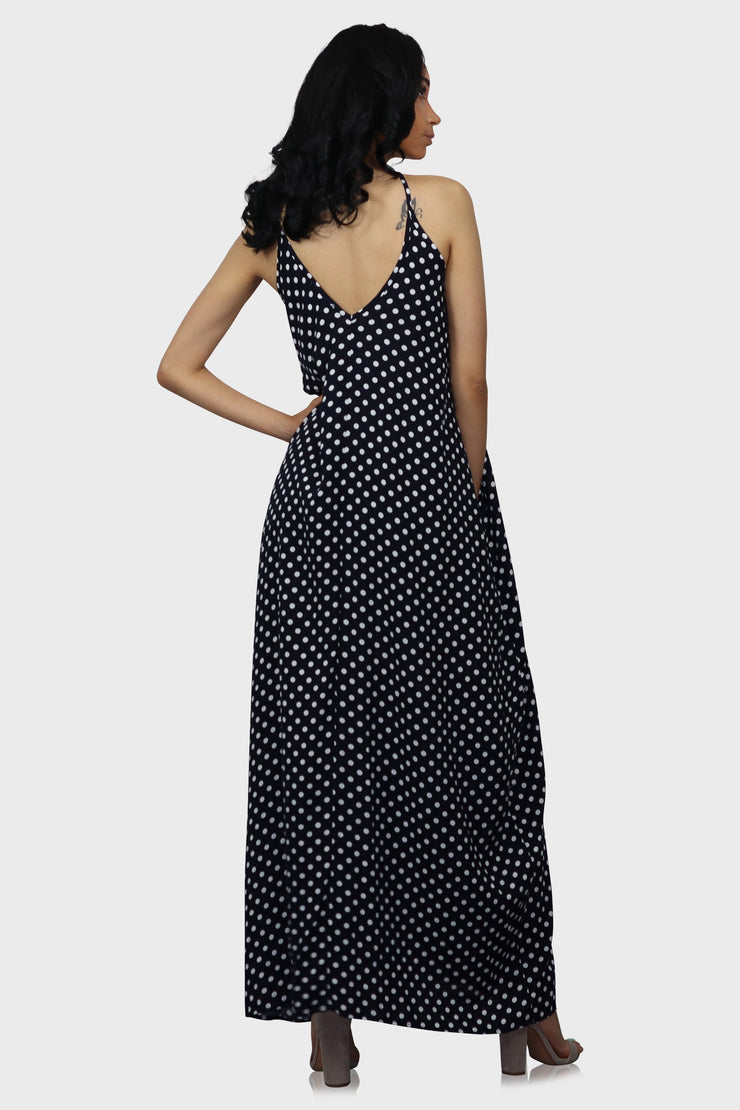 Connect The Dots Polka Dot Dress on model rear view