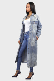 Dripping in Denim | Long Denim Jacket