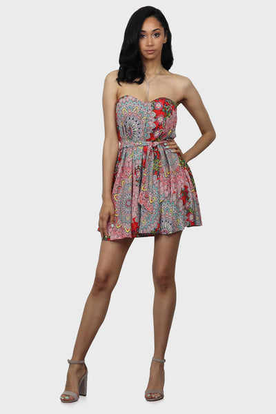 Paisley in Love Babydoll Dress on model front view