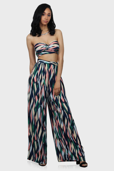 Vision in Kaleidoscope pants set on model front view