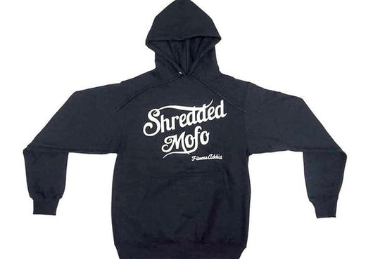 Shredded Mofo Pullover Hoodie: Black (With White Letters)