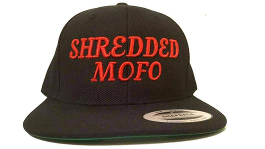 Shredded Mofo Snap Back: Black with Red Embroidery