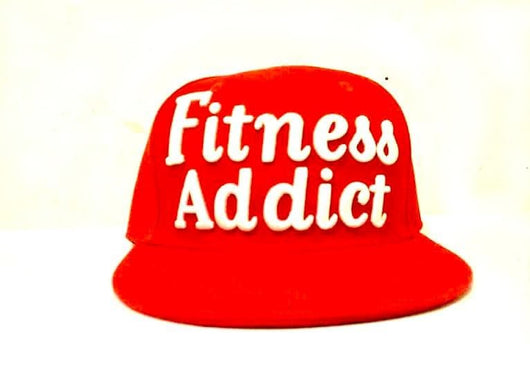 Limited Edition Fitness Addict Snap Back: Red with White Embroidery
