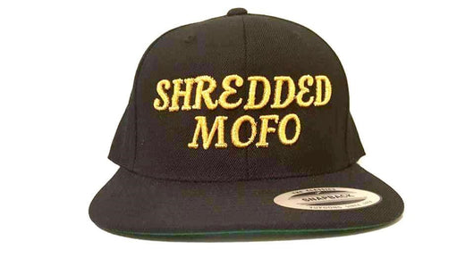 Limited Edition Shredded Mofo Snap Back: Black with Gold Embroidery