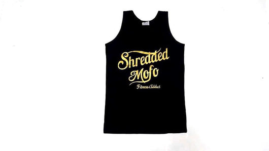 Limited Edition Shredded Mofo Tank Top : Black (with Gold letters)
