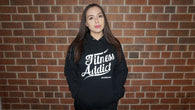 Fitness Addict Pullover Hoodie: Black (With White Letters)