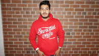 Shredded Mofo Pullover Hoodie: Red (With White Letters)
