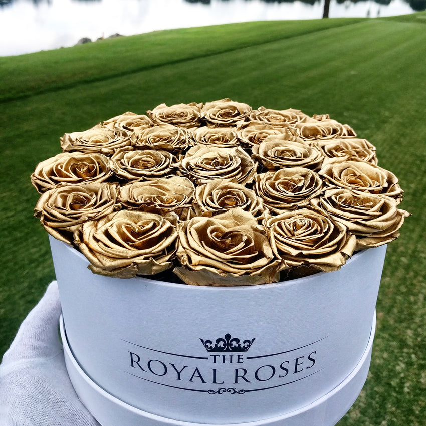 Eternity Roses - Round Preserved Rose Box - The Royal Roses Cayman