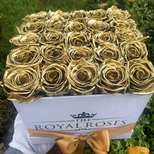 Eternity Roses - Square Preserved Rose Box - The Royal Roses Cayman