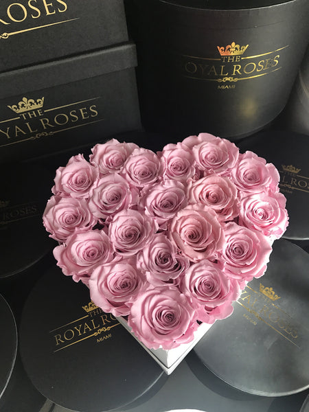 Eternity Roses - Heart Shaped Preserved Rose Box - The Royal Roses Cayman