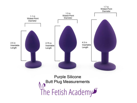 Purple Silicone Plug Sizes