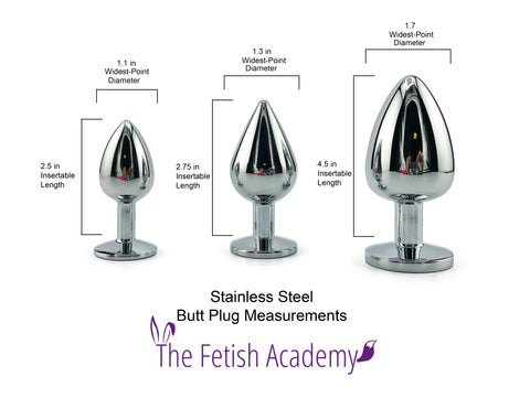 Stainless Steel Plug Sizes