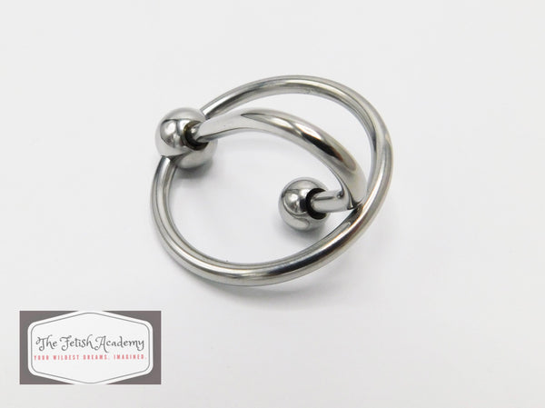 Stainless Steel Cock Tip Ring with Urethral Plug - THE FETISH ACADEMY