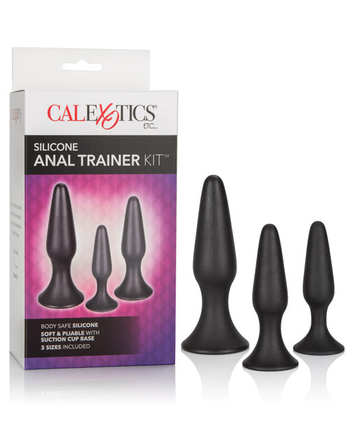 Silicone Anal Trainer Kit - Black - THE FETISH ACADEMY