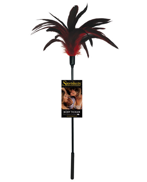 Sportsheets Body Tickler Starburst Feather - Red - THE FETISH ACADEMY