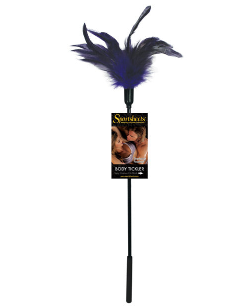 Sportsheets Body Tickler Starburst Feather - Violet - THE FETISH ACADEMY