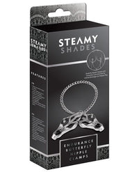 Steamy Shades Endurance Butterfly Nipple Clamps - THE FETISH ACADEMY