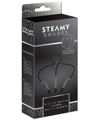 Steamy Shades Y-style Deluxe Beaded Nipple Clamps - THE FETISH ACADEMY