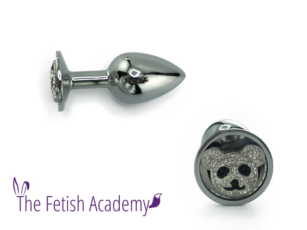 Panda Bedazzled Stainless Steel Bling Plug - Fetish Academy Exclusive - THE FETISH ACADEMY