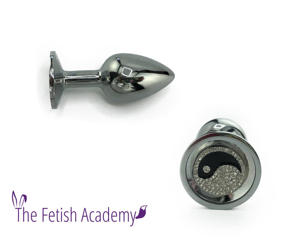 Yin Yang Bedazzled Stainless Steel Bling Plug - Fetish Academy Exclusive