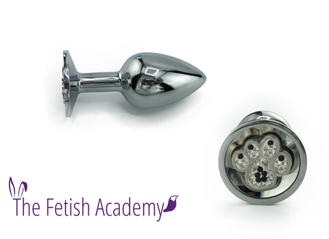 Dog Paw Bedazzled Stainless Steel Bling Plug - Fetish Academy Exclusive