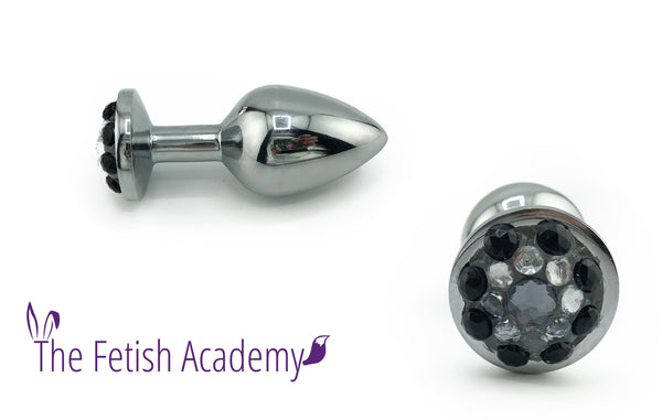 Bedazzled Stainless Steel Bling Plug - Fetish Academy Exclusive - THE FETISH ACADEMY