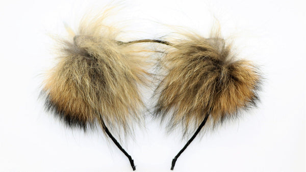 Genuine Red Fox Fur Cat Ears - THE FETISH ACADEMY