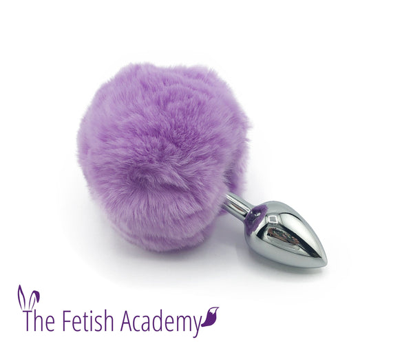 Faux Lavender Bunny Tail Butt Plug - THE FETISH ACADEMY