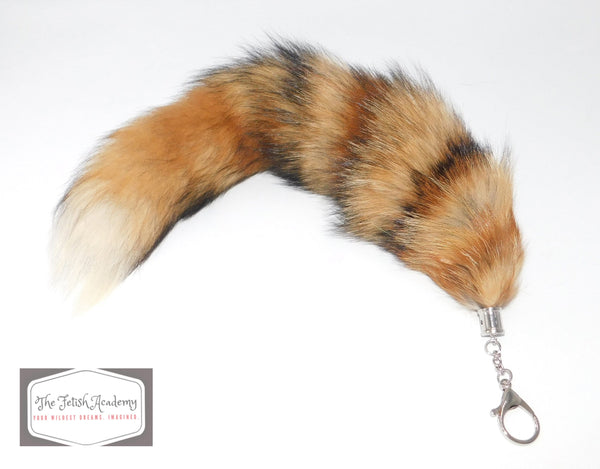 REAL Fox Fur Clip on Tail - Martes Americana - THE FETISH ACADEMY