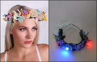 Flower Headpiece with LED's Multi-CARNIVAL WEAR - THE FETISH ACADEMY