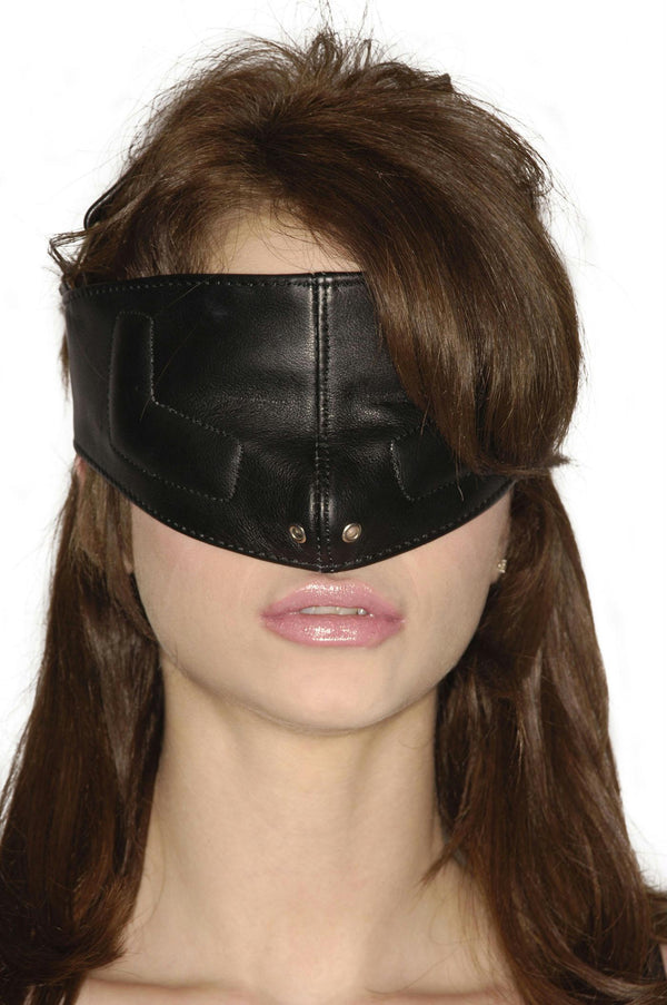 Strict Leather Upper Face Mask-SM - THE FETISH ACADEMY
