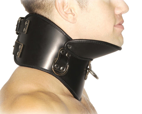 Strict Leather BDSM Posture Collar