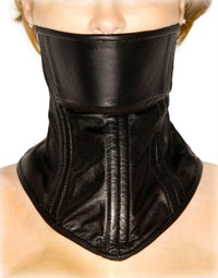 Strict Leather Neck Corset - THE FETISH ACADEMY