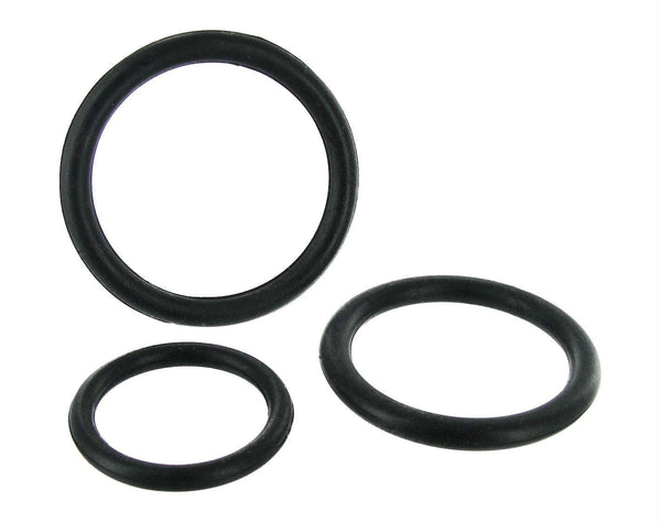 Black Triple Silicone Cock Ring Set - THE FETISH ACADEMY